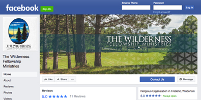 Wilderness Fellowship Facebook Page
