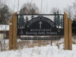 TWFM Entrance Sign in Winter