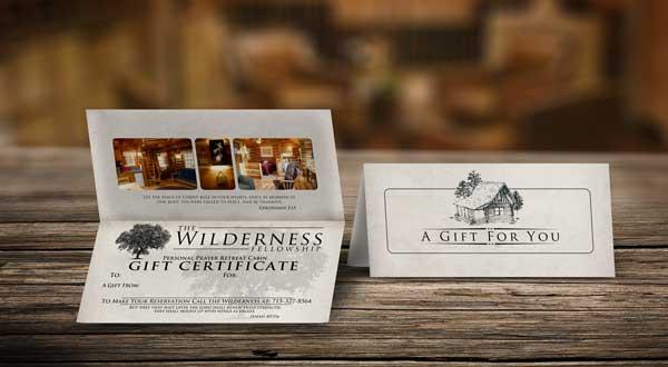 The Wilderness Fellowship Gift Certificates
