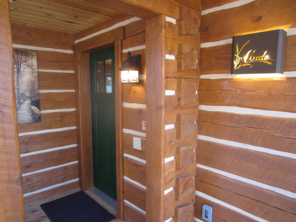 Besel Prayer Cabin Front Door - The Wilderness Fellowship Ministries
