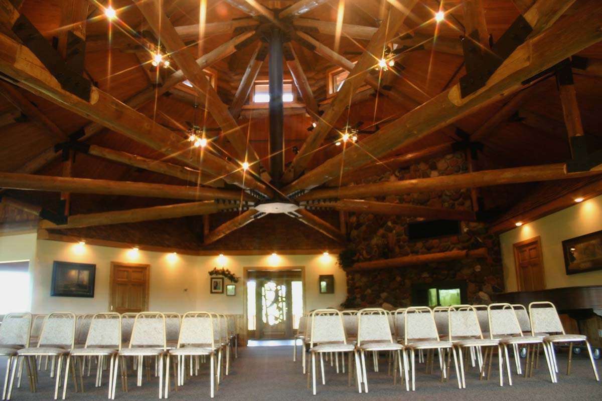 Johnson Hall Chairs Setup with Center Aisle