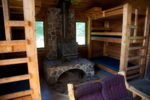 family cabins group cabins retreat cabins Lakeside Cabin Bunks and Wood Stove for Heat