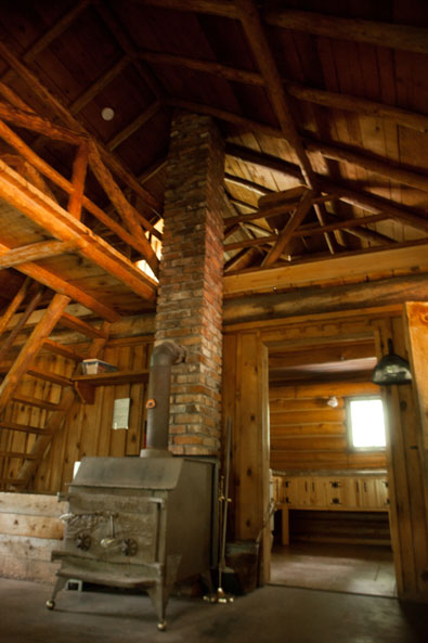 family cabins group cabins retreat cabins Log Cabin Wood Stove