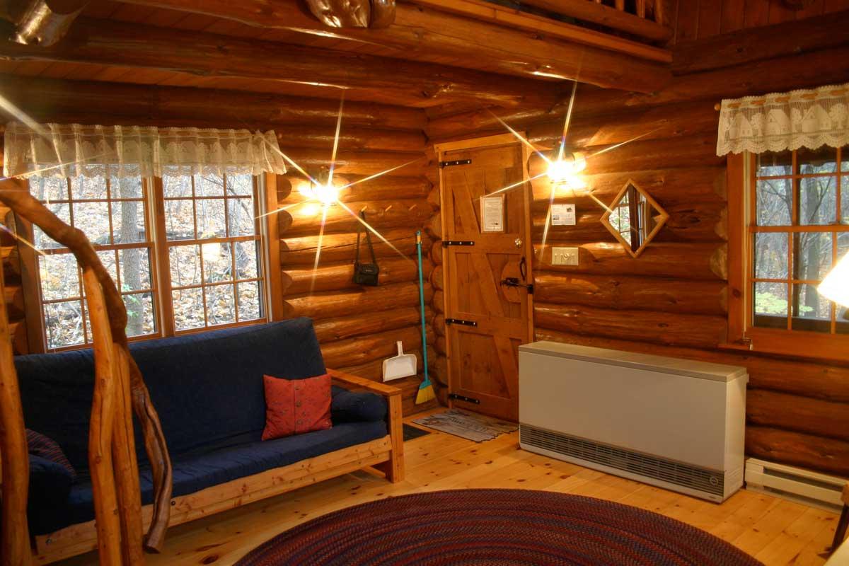 prayer cabins Timothy Prayer Cabin Living Area
