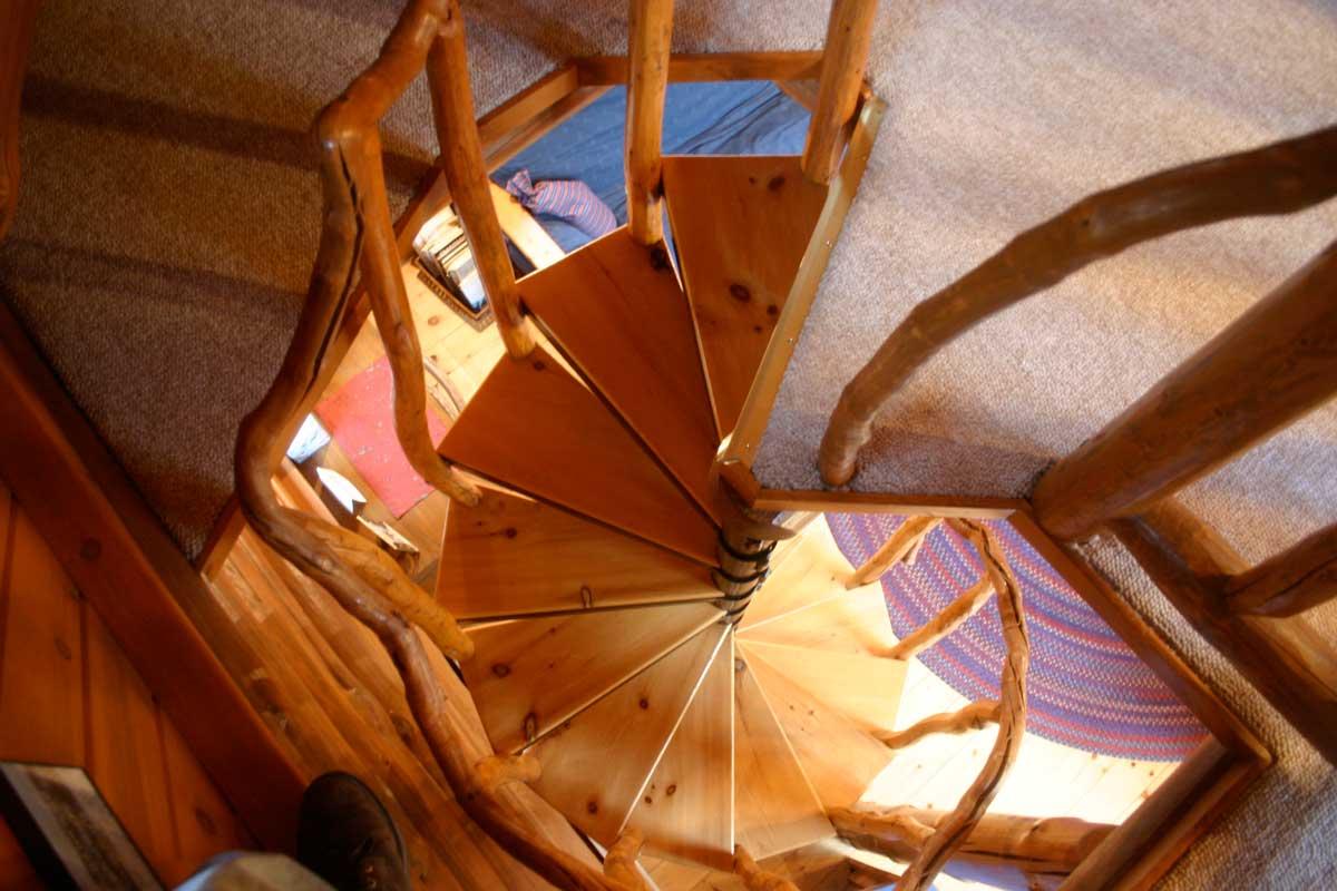 Timothy Prayer Cabin Spiral Stairway