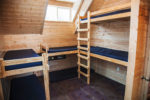 family cabins group cabins retreat cabins Windy Hill Farm House Bunk Beds in Dormer