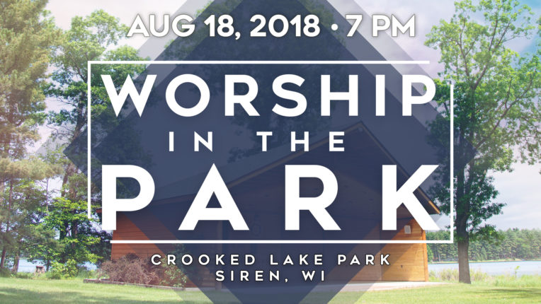 worship in the park. crooked lake park, siren, wisconsin