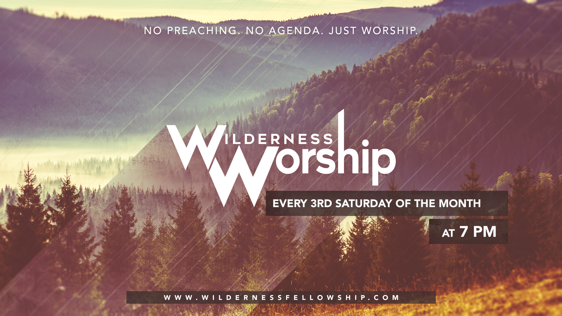 A night of Worship at the Wilderness Fellowship Ministries