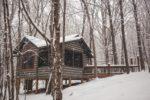 mercy prayer cabin in the fresh snow