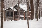 Mercy Prayer Cabin in winter