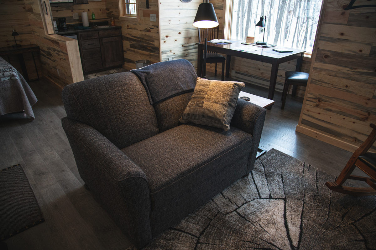 Whisper cabin couch