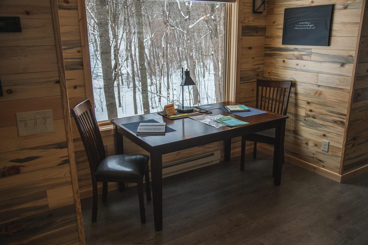 whisper prayer cabin dining table