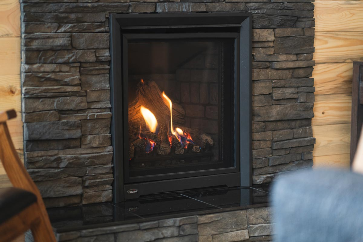 whisper prayer cabin fireplace