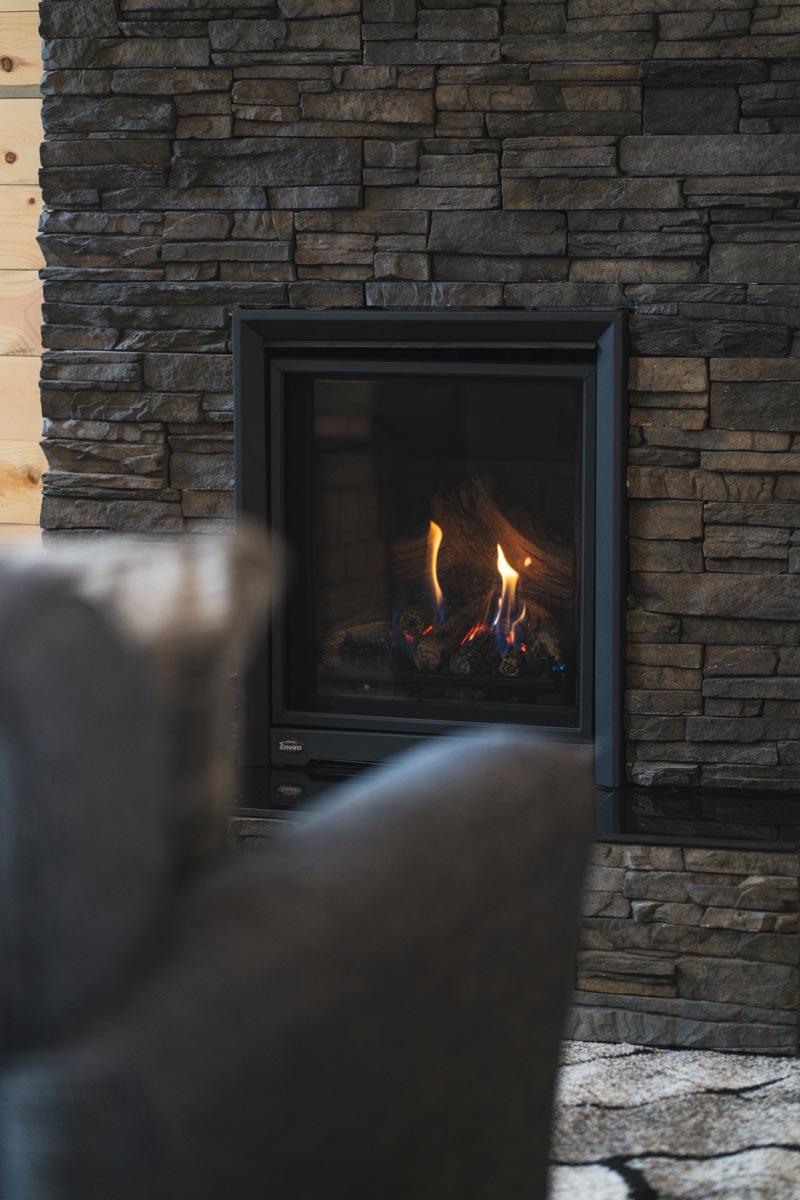 whisper prayer cabin fireplace 2