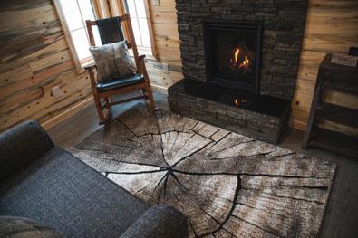 whisper prayer cabin living area